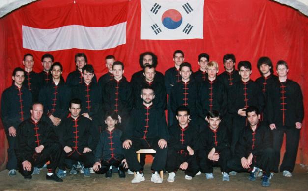 Gerhard Rosen und die damaligen Studenten, ca. 1989